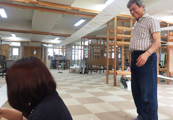 大原和服専門学園にて京友禅びん工房黒島敏先生ご指導