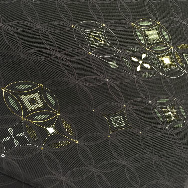 染め加工に金彩工芸でビロード帯