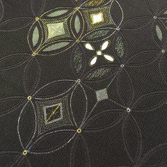 本輪奈ビロードの金彩加工の帯