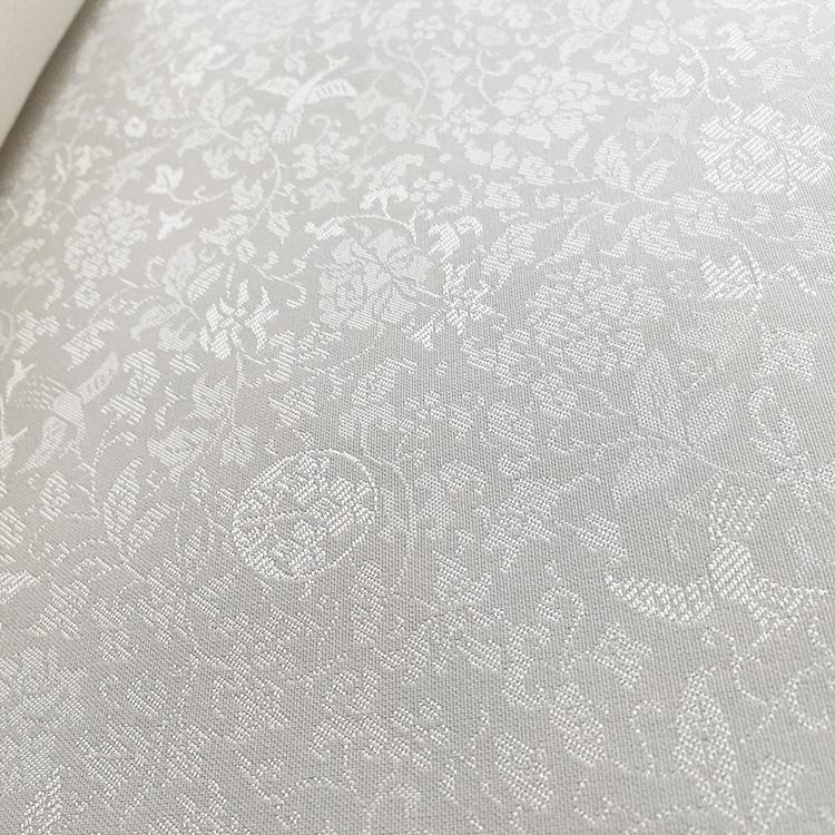 鳳凰牡丹唐草地紋の白生地から別注で地紋様を製作