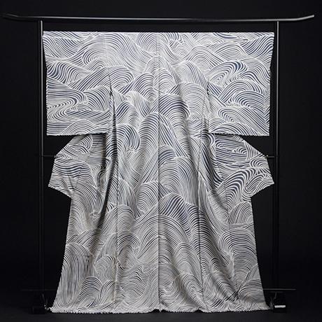 日本画家 加山又造 復刻着物「波濤文」(非売品)